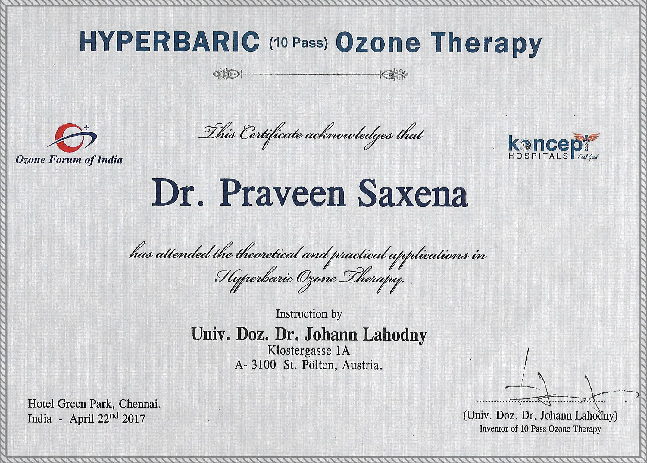 Awards & Recognition | Dr Saxena Clinic Hyderabad india | Dr