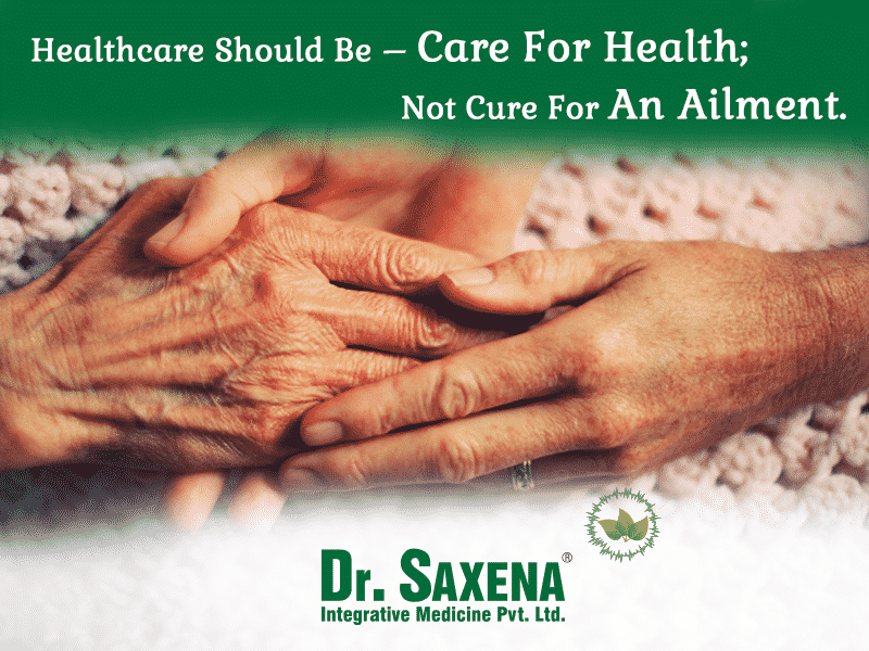 Healthcare Should Be Care For Health; Not Just Cure For An Ailment.