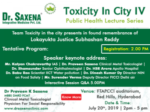 ToxiCity in City IV Public Health Lecture Series