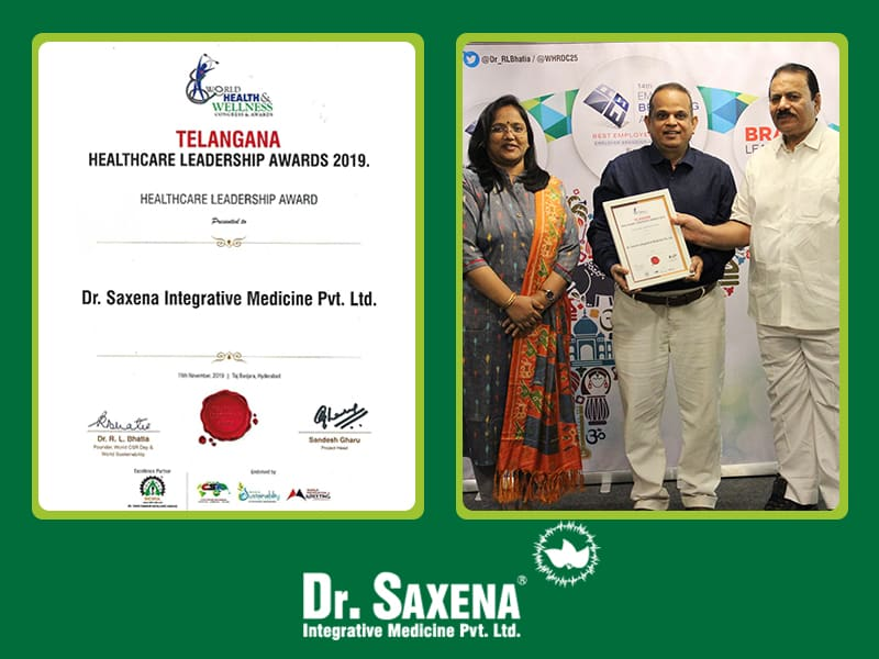 Dr. Praveen Saxena Honoured With Telangana HealthCare Leadership Award For 2019